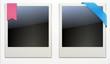 Retro polaroid photo frames
