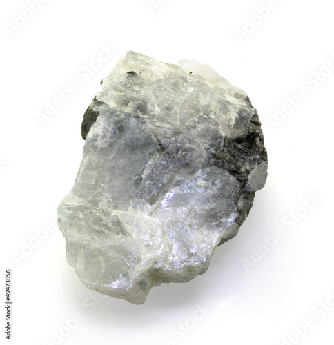 Single Moonstone isolated on a white background