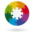 Puzzle rund - Basis mit 8 Optionen