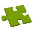 3D Puzzleteil grün