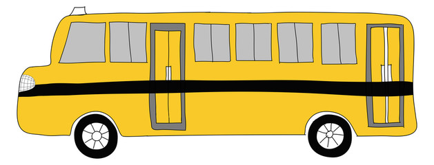 drawing  School bus