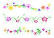 3 frises fleurs - couleur - Printemps
