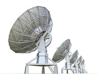 radar on a white background