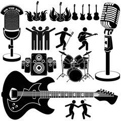 rock and roll music set