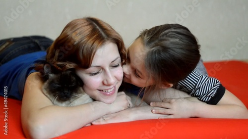 Mom and daughter have fun