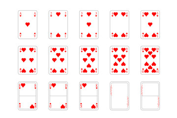 Spielkarten - Herz, Muster