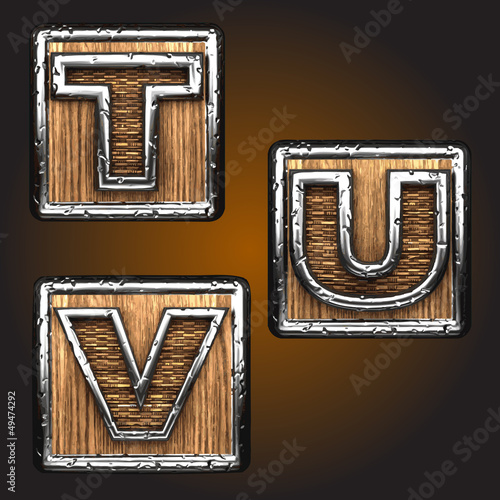 Vector wooden figure