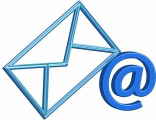 Concetto e icona di posta elettronica