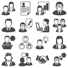 Icon set: business people