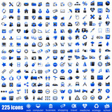 225 navy blue icons
