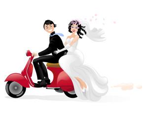 sposi in vespa