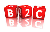 würfel cube b2c 3d poster