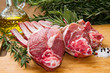 lamb meat with rosemary