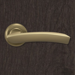 Door Handle On Wooden Background
