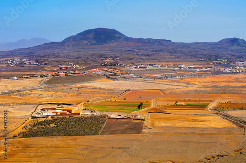 La Oliva town and La Arena volcano Fuerteventura, Canary Islands