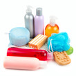 set of toiletries for bathing