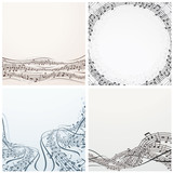 Collection of Musical Backgrounds. Vector Graphics