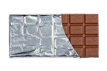 Tafel Schokolade mit Clipping Path