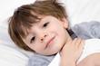 Child under the blankets