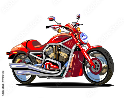 realistic red motorcycle