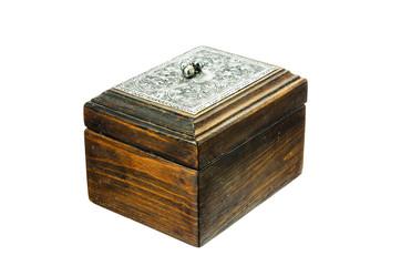 A wooden box.