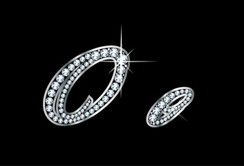 Script Diamond Bling Oo Letters