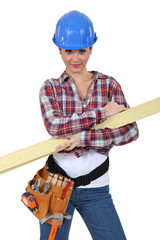 Female carpenter
