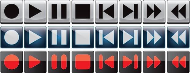Player buttons set