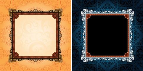 ornamented design frames, eps8 format vector