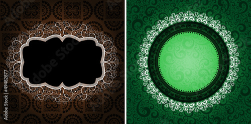 ornamented vintage backgrounds, eps8 vector