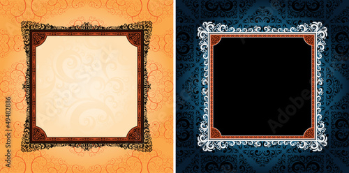 ornamented design frames, eps8 format vector