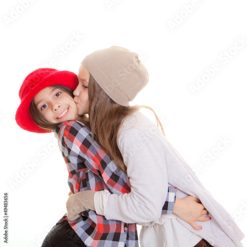 friendship or sisters kiss