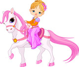 Fototapete Pony - Hengst - Kind