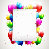 Fototapety Modern birthday background