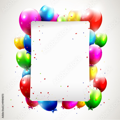 Modern birthday background