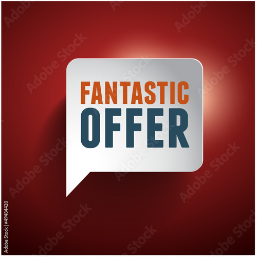 Fantastic offer old retro vintage speech bubble