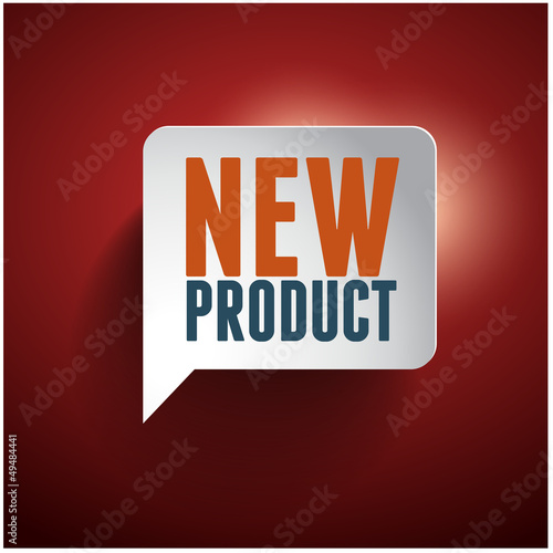 New product speech bubble tag