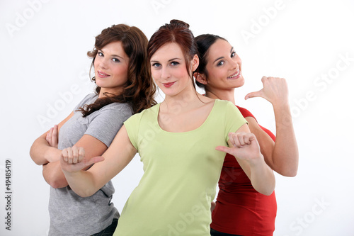 Three close female friends