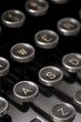 Typewriter keys, close up