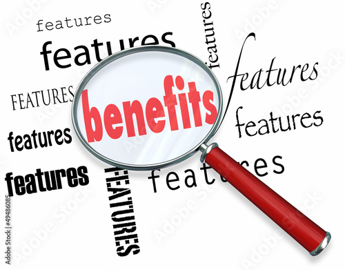 canvas print picture Features vs Benefits How to Sell Core Sales Principle