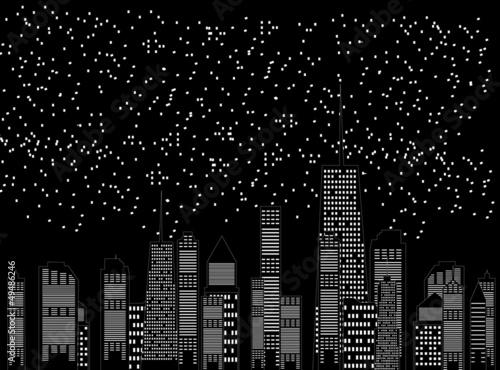 Fototapeta vector illustration of cities silhouette