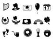 black Saint Patrick's Day icons