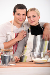 Couple baking