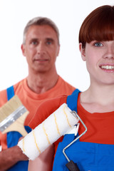 A team of tradespeople