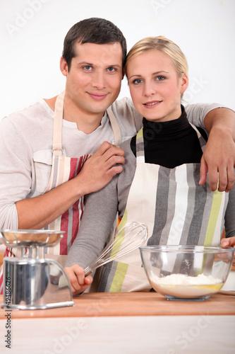 Couple baking