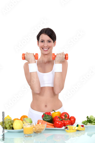 Young woman getting fit