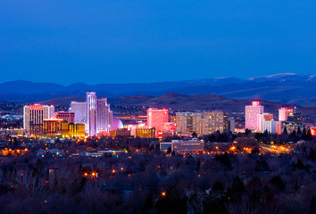 Reno Nevada at night