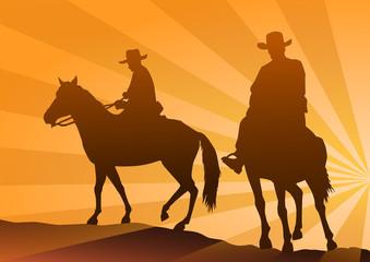 Kovboylar  at üstünde (Akşamüstü)