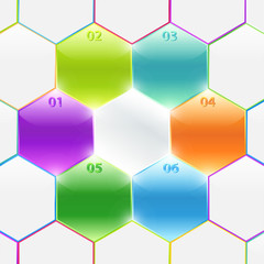 Conceptual vector of colorful polyhedron. Business banners