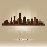 Dallas, Texas skyline city silhouette